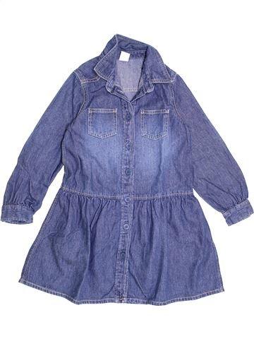 Robe fille PETIT BATEAU bleu 5 ans hiver #1370235_1