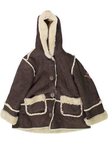 Abrigo niña CATIMINI marrón 3 años invierno #1370354_1