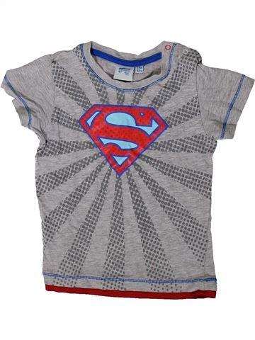 T-shirt manches courtes garçon SUPERS HÉROS gris 2 ans été #1370472_1