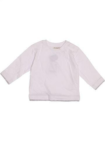 T-shirt manches longues garçon ZARA blanc 6 mois hiver #1370577_1