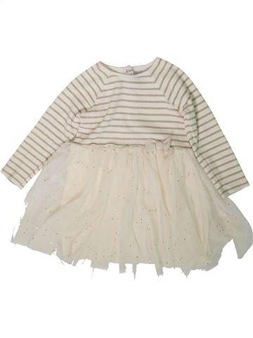 Robe fille PETIT BATEAU blanc 3 ans hiver #1370745_1