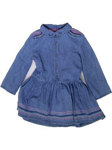 Robe fille DPAM bleu 3 ans hiver #1370746_1
