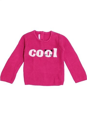 Pull fille GEMO rose 3 ans hiver #1370905_1