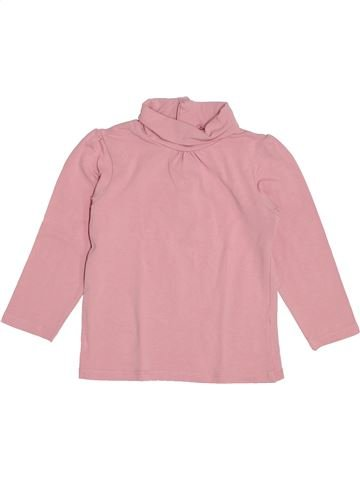 T-shirt col roulé fille KIABI rose 3 ans hiver #1370927_1