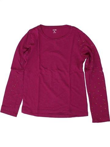 T-shirt manches longues fille KIABI violet 8 ans hiver #1370989_1
