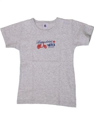 Camiseta de manga corta niño PETIT BATEAU gris 8 años verano #1371009_1