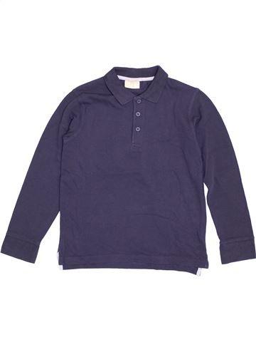 Polo manches longues garçon DPAM bleu 8 ans hiver #1371011_1