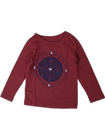 T-shirt manches longues garçon CFK marron 4 ans hiver #1371153_1