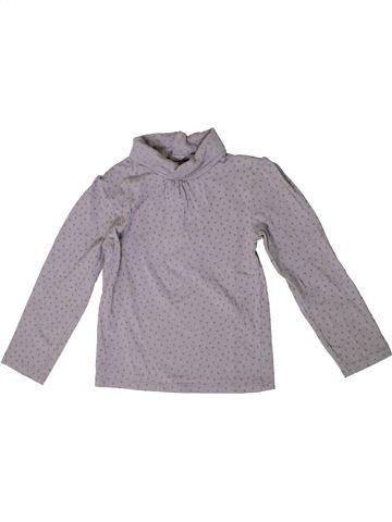 T-shirt col roulé fille KIABI gris 4 ans hiver #1371159_1