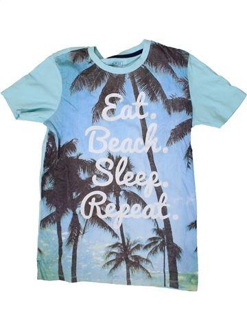 T-shirt manches courtes garçon CHEROKEE bleu 12 ans été #1371318_1