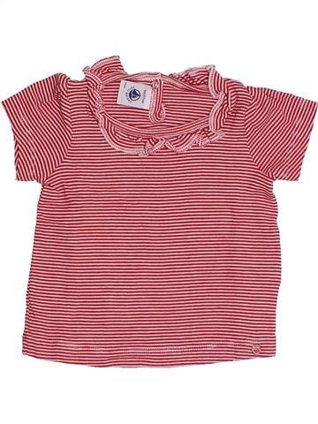 T-shirt manches courtes fille PETIT BATEAU rose 6 mois été #1371342_1