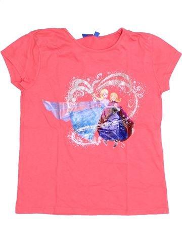 T-shirt manches courtes fille DISNEY rose 10 ans été #1371566_1