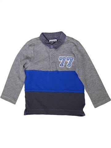 Polo de manga larga niño F&F gris 4 años invierno #1372049_1