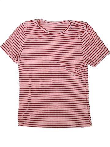 Camiseta de manga corta niña SANS MARQUE rosa 11 años verano #1372132_1