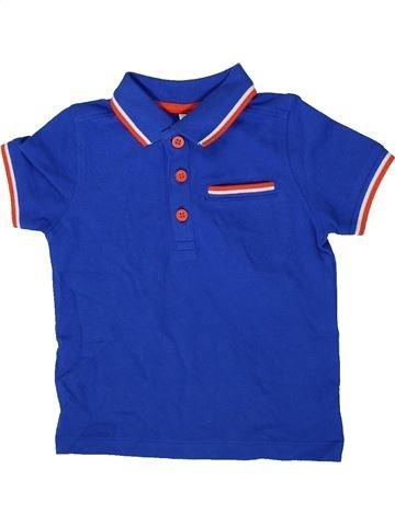 Polo de manga corta niño MINI CLUB azul 2 años verano #1372211_1