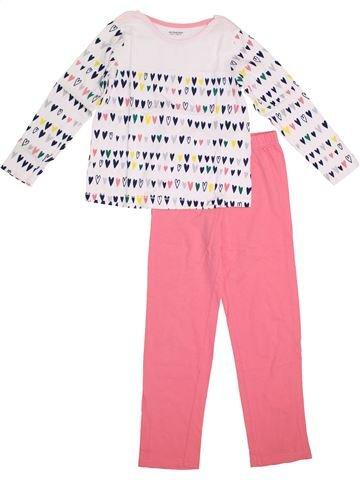 Pijama de 2 piezas niña VERTBAUDET blanco 8 años invierno #1372909_1
