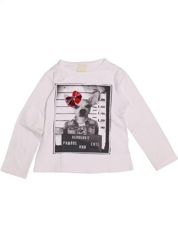 Camiseta de manga larga niña ZARA blanco 3 años invierno #1374579_1
