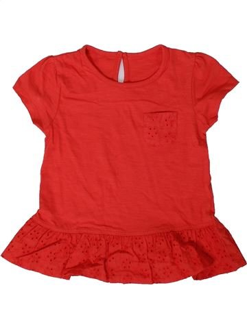 Camiseta de manga corta niña SANS MARQUE rojo 2 años verano #1374804_1