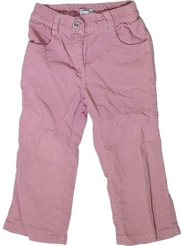 Pantalón niña KIMBALOO rosa 2 años invierno #1375320_1