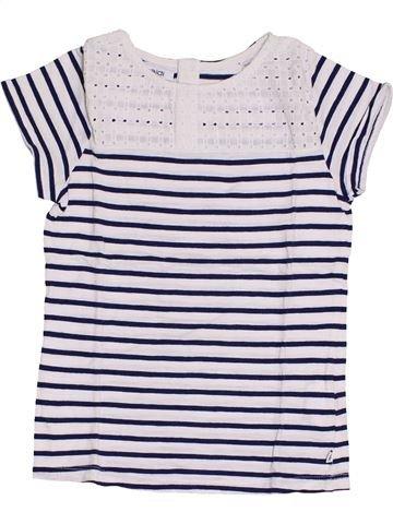 Camiseta de manga corta niña OKAIDI blanco 8 años verano #1375324_1