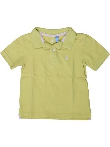 Polo de manga corta niño OKAIDI verde 5 años verano #1375402_1