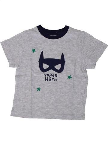 Camiseta de manga corta niño MONOPRIX gris 3 años verano #1375486_1