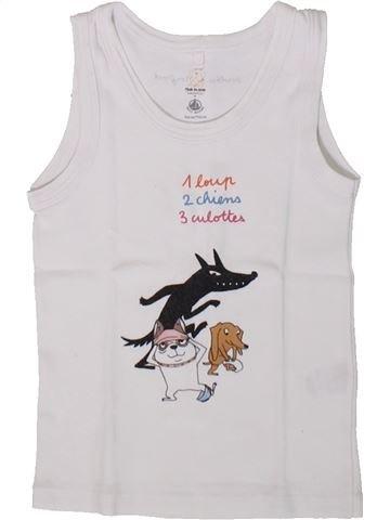 Top - Camiseta de tirantes niño PETIT BATEAU blanco 3 años verano #1375502_1