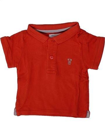 Polo manches courtes garçon OKAIDI rouge 3 mois été #1376007_1