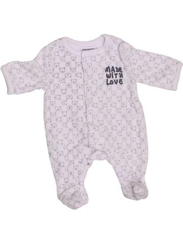 Pyjama 1 pièce garçon ORCHESTRA blanc prématuré hiver #1376375_1