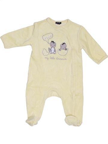 Pijama de 1 pieza niño KIABI beige 6 meses invierno #1376713_1