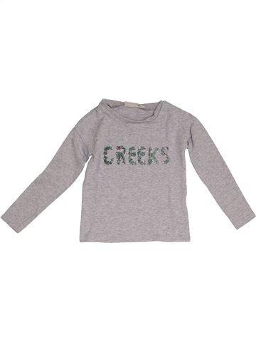 T-shirt manches longues fille CREEKS gris 4 ans hiver #1378421_1