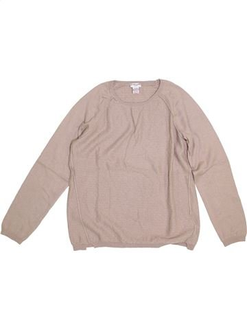 Pull fille CYRILLUS beige 12 ans hiver #1378640_1
