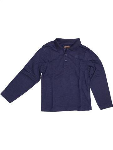 Polo manches longues garçon ORCHESTRA bleu 5 ans hiver #1379165_1