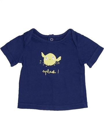 T-shirt manches courtes garçon TAPE À L'OEIL bleu 1 mois été #1379332_1