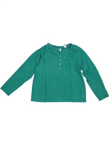 T-shirt manches longues fille OKAIDI vert 6 ans hiver #1379601_1