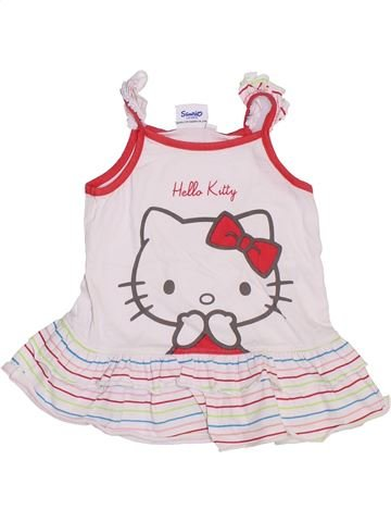 Tunique fille HELLO KITTY blanc 9 mois été #1380170_1