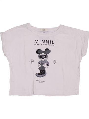 T-shirt manches courtes fille MANGO blanc 5 ans été #1380264_1