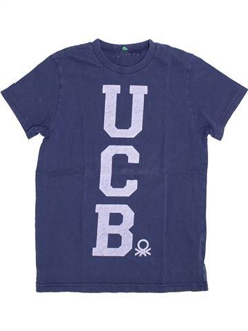 T-shirt manches courtes garçon BENETTON bleu 12 ans été #1380489_1