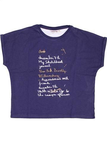 T-shirt manches courtes fille CREEKS violet 12 ans été #1381379_1
