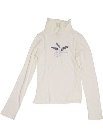 T-shirt col roulé fille OOXOO blanc 10 ans hiver #1381380_1