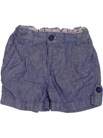 Short - Bermuda fille 3 SUISSES bleu 12 mois été #1381622_1