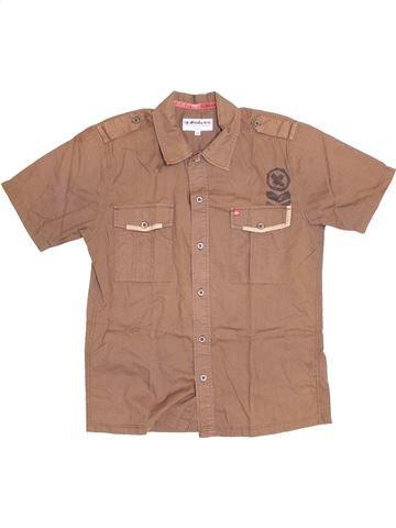 Chemise manches courtes garçon QUIKSILVER marron 14 ans été #1381729_1