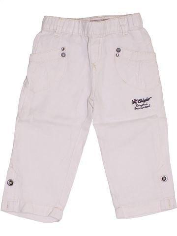 Pantalon fille CHIPIE blanc 18 mois été #1382591_1