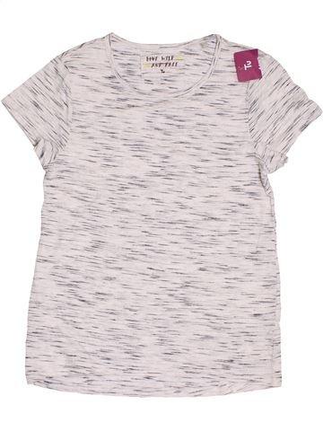 T-shirt manches courtes garçon TU blanc 11 ans été #1382703_1