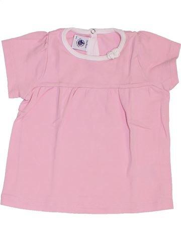 T-shirt manches courtes fille PETIT BATEAU rose 2 ans été #1383165_1