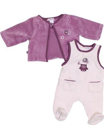 Pyjama 2 pièces fille OKAIDI blanc naissance hiver #1383655_1