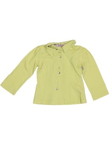 Polo manches longues fille CLAYEUX vert 2 ans hiver #1385074_1