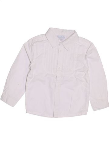 Blouse manches longues fille KIMBALOO blanc 2 ans hiver #1385651_1