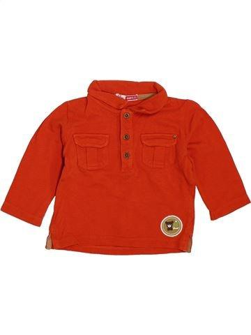 Polo manches longues garçon DPAM rouge 6 mois hiver #1385704_1