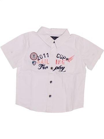 Chemise manches courtes garçon GENERATION Z blanc 6 mois été #1386760_1